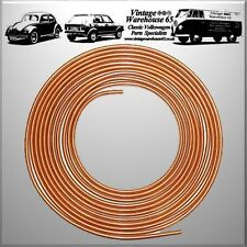 "Volkswagen Beetle Golf Bora Corrado Polo Derby 25ft 3/16"" Copper Brake Line Pipe"