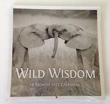 Wild Wisdom 2013 16 Month Calendar Black White Animal Pictures Prints Quotes