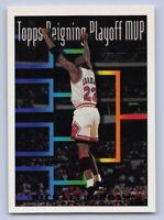 """1993-94 - MICHAEL JORDAN - Topps """"MVP"""" GOLD Basketball Card #199 - CHICAGO BULLS"""