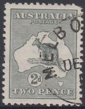 Kangaroo 2d grey stamp 1st watermark cancelled to order cto with gum