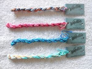 THREAD - WATERLILIES BY CARON - 12 PLY SILK - MISC. COLORS - LOT OF 4  - NEW!