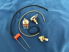 Upgrade Wiring Kit Fits Les Paul Jr Short Shaft Pots Orange Drop .022 Tone Cap