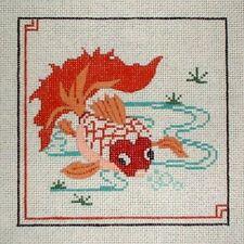MZC Oriental Koi Fish HP Hand Painted Needlepoint Canvas