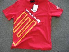 Endura E Tee shirt Red size XL casual cycling shirt