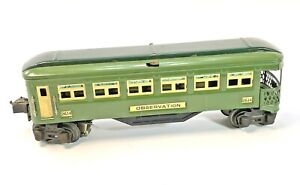 Vintage Lionel Pre War 2614 Green Illuminated Observation Car Original Box