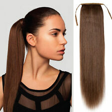 100% Human hair drawstring ponytail extensions straight human hair ponytail 80g