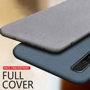 For Huawei Y9 Y5 Y7 Y6 P30 Sandstone Matte Ultra Slim Soft Silicone Case Cover
