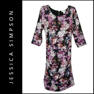 Jessica Simpson Maternity Cocktail Formal Body Con Floral Dress Size Medium