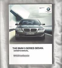 buy 5 series 2012 car owner operator manuals ebay rh ebay co uk 2011 BMW 5 Series 528 2015 bmw 5 series owners manual