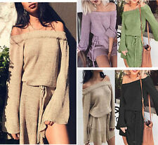 Maglia Lunga Mini Vestito Donna Woman Long Sleeve T-Shirt Dress 110337 P