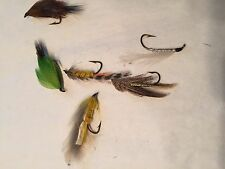 Vtg Lot 6 Feather Fly Fishing Lure Flies Wear To Feathers
