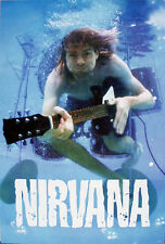 "Nirvana ""Kurt Cobain Swimming In Pool With His Guitar"" Poster From Asia"