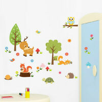 Cute Zoo Animals Removable Wall Sticker Decal For Kids Nursery Baby Room Decor