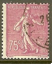 "FRANCE TIMBRE STAMP N°202 ""TYPE SEMEUSE LIGNEE, 75 C LILAS ROSE"" OBLITERE TB"