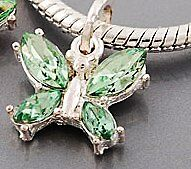 GREEN  BUTTERFLY CHARM FIT EORO AND LINKS BRACELET