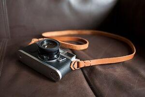 Handmade Genunie Real Leather camera strap neck strap for vintage camera brown