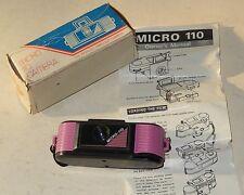 APPAREIL Photo MICRO 110 Camera + Boite + Notice - Modèle Violet