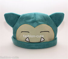 New Unisex Cosplay Winter Pokemon Plush Warm Hat Cap Beanie Costume Snorlax