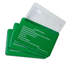 Fresnel Lens 3 Pack Credit Card Pocket Size Magnifier Firestarter with Sleeve