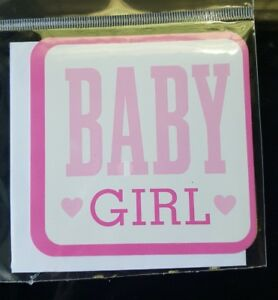 Hallmark: Baby Girl: Gift Tag With Envelope