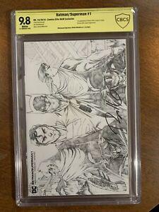Batman Superman 1 - CBCS SS 9.8 - Ryan Kincaid Sketch Variant - Signed Kincaid