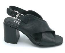 Mjus M31003 sandalo pelle nero cinturino tacco largo 7 cm