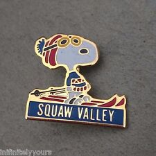 SQUAW VALLEY SNOOPY Goggles Resorts Ski Skiing Lapel Hat Pin ~ California CA