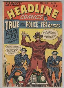 Headline #33 December 1948 G/VG Jack Kirby cover and art