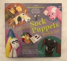 Crafts Kids Let's Make Sock Puppets Book Kit Everything To Create Great Puppets