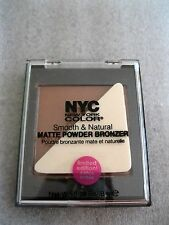 NYC New York Color Smooth & Natural Matte Powder Bronzer,Sun Glow