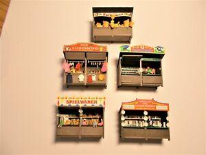 Preiser: 5 Verkaufsstände für die Kirmes / Volksfest