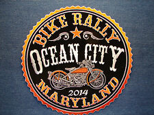 Ocean City, Maryland BIKE Rally, 2014 Patch Orange Harley Applique Sew or Iron