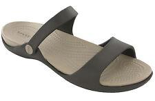 Crocs Sandals Cleo V Slip On Beach Summer Holiday Cushioned Womens Flats UK 4-9