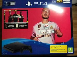 Ps4 500gb console fifa 20 bundle new