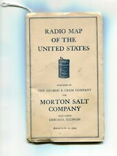 Radio Map of the U.S. 1924. Full list of AM stations in U.S./Canada/Cuba/Mexico.