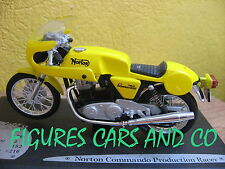 1/18  MOTO NORTON COMMANDO PRODUCTION RACER SOLIDO AVEC SOCLE D'EXPOSITION