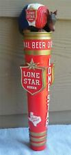 "Lone Star Beer New Armadillo Ceramic Tap Handle ..11 3/4 "" New Beauty in box!!"