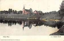 Fulda Minnesota Catholic Church Coast Scene Antique Postcard K19911