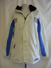 Mens Coat - Protest, size L, off white, blue, wind/waterproof, breathable 1881