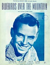 JOHNNY REBB - BLUEBIRDS OVER THE MOUNTAIN - VINTAGE SHEET MUSIC - AUSTRALIA