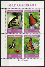 Madagascar 2019 MNH Butterflies Monarch Butterfly 4v M/S Papillons Stamps