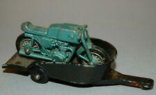 RARE MATCHBOX LESNEY # 38C HONDA MOTORCYCLE MOTORBIKE BIKE TRAILER DIECAST 1967