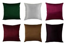 "16"" Plain Silk Cushion Covers Handmade Reversible Throw Pillow Home Decor"