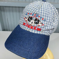 Mickey Mouse Denim Disney Womens Stretch Baseball Cap Hat