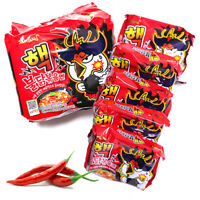 10000 SHU-Upgraded New 2X Spicy Nuclear Chicken Ramen Korean Instant 5 Packs
