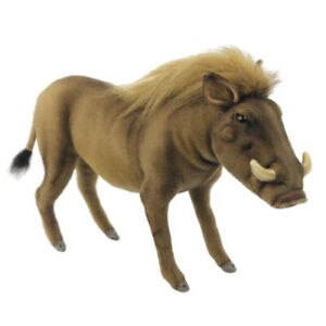 HANSA WARTHOG REALISTIC STUFFED ANIMAL PLUSH SOFT TOY 37cm L **NEW**