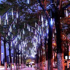144LED Lights Meteor Shower Rain Tube Snowfall Tree Garden Christmas 30cm White