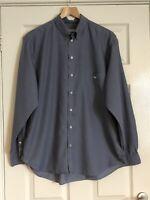 """Men's Grey Emporio Armani Shirt Size 16 1/2 collar 48"""" chest"""