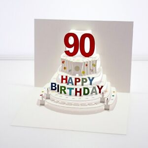 Forever Cards Pop Up Birthday Card 90th Birthday