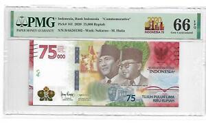"Indonesia,Bank Indonesia ""Commemorative"" 2020 75000 Rupiah PMG 66 EPQ"